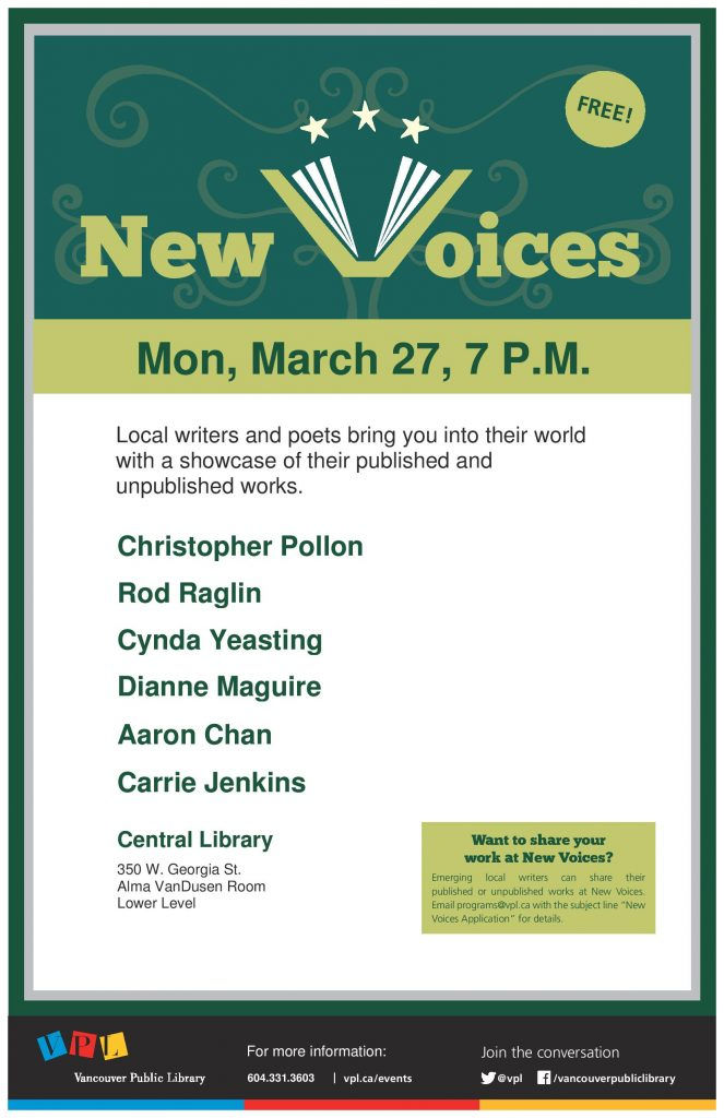 New Voices @ Central Library | Vancouver | British Columbia | Canada